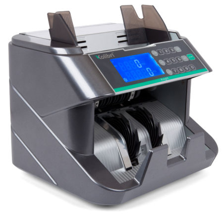 The Kolibri Knigh Automatic Bill Counter Front-Loading and Spacious Hopper Allows you to Quickly, Accurately and Continuously count the money your business generates.
