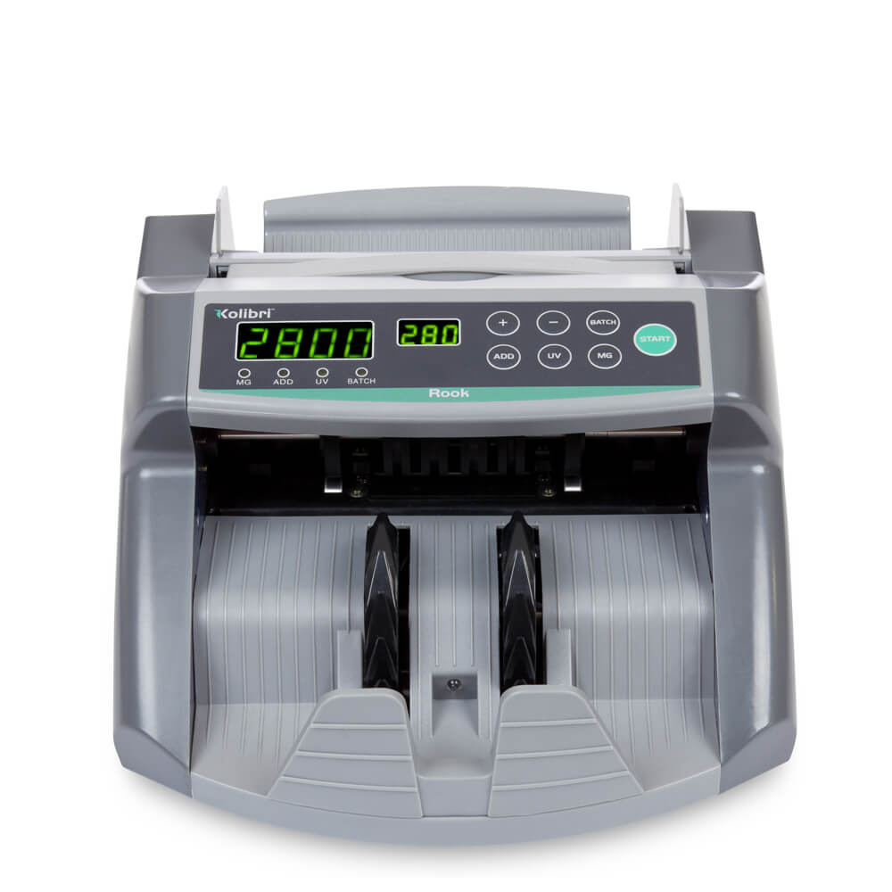 Kolibri Rook Bill Counter with UV, Magnetic and Infrared Counterfeit Detection